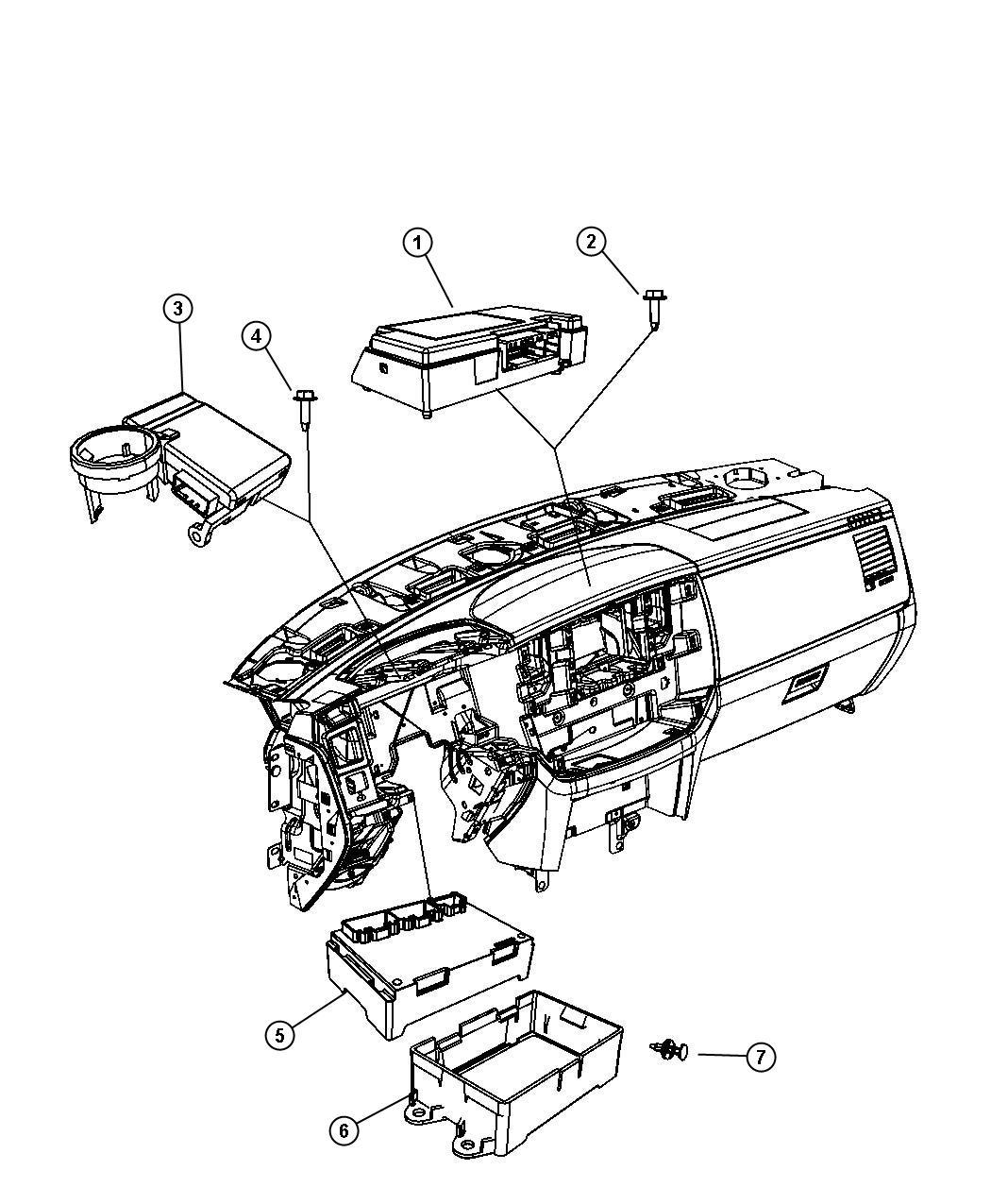 dodge durango module  transfer case control   single speed on demand transfer case