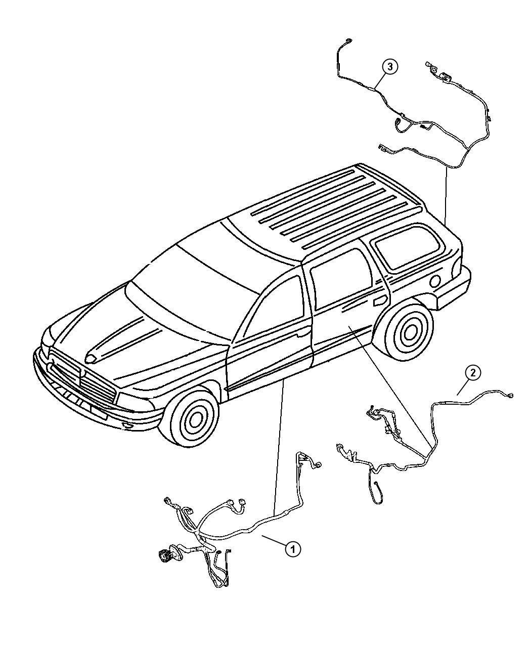 Dodge Durango Wiring  Liftgate  Rear  Parkview  Back