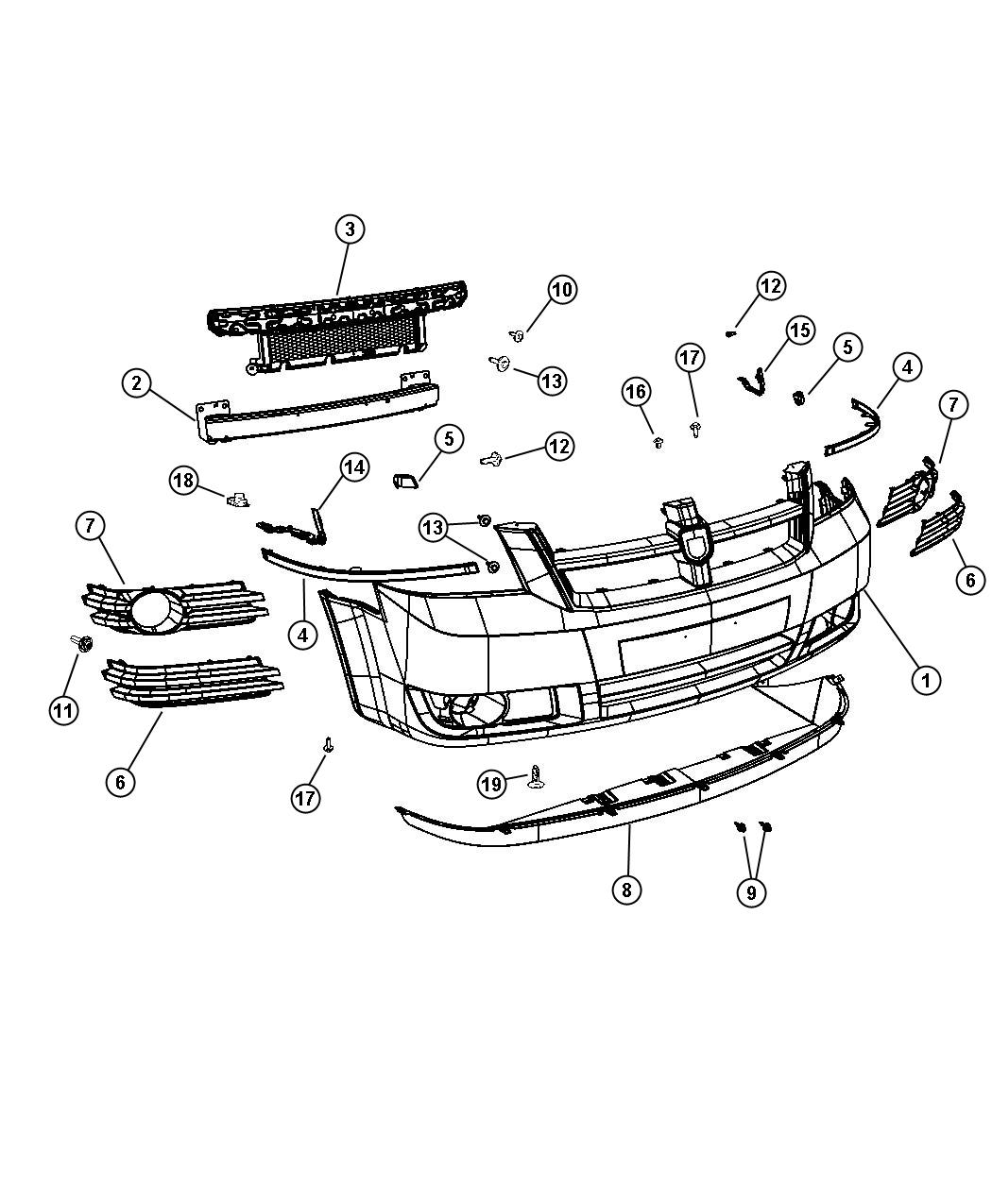 Chrysler Town  U0026 Country Molding  Fascia  Right  Bright