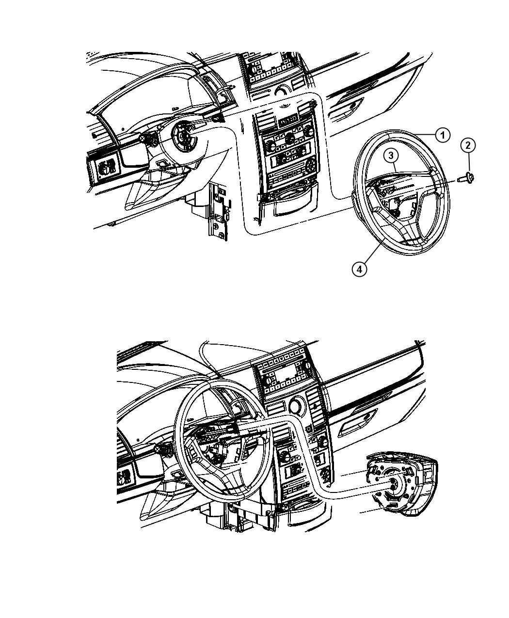 chrysler town  u0026 country wheel  steering   ds  sck   trim