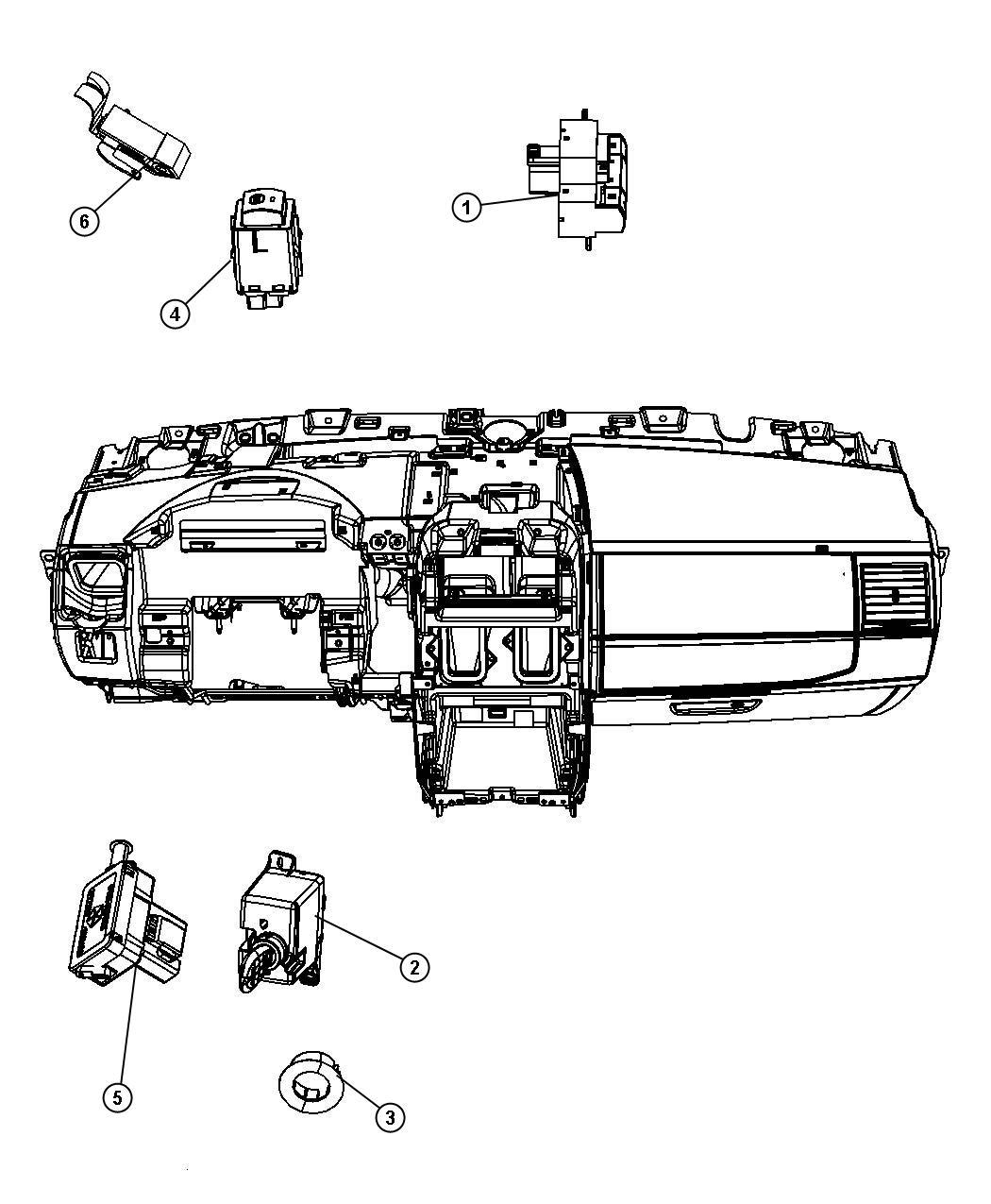 2009 dodge grand caravan trim ring  ignition key cylinder