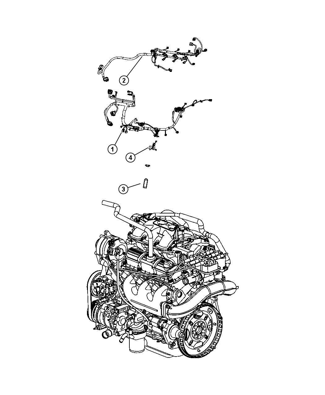 Dodge Grand Caravan Wiring  Jumper  Engine  After 01  18