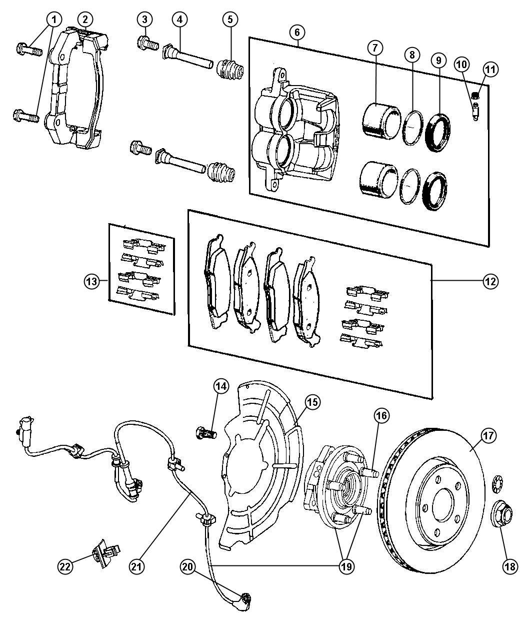 Jeep Grand Cherokee Sensor  Anti-lock Brakes  Front