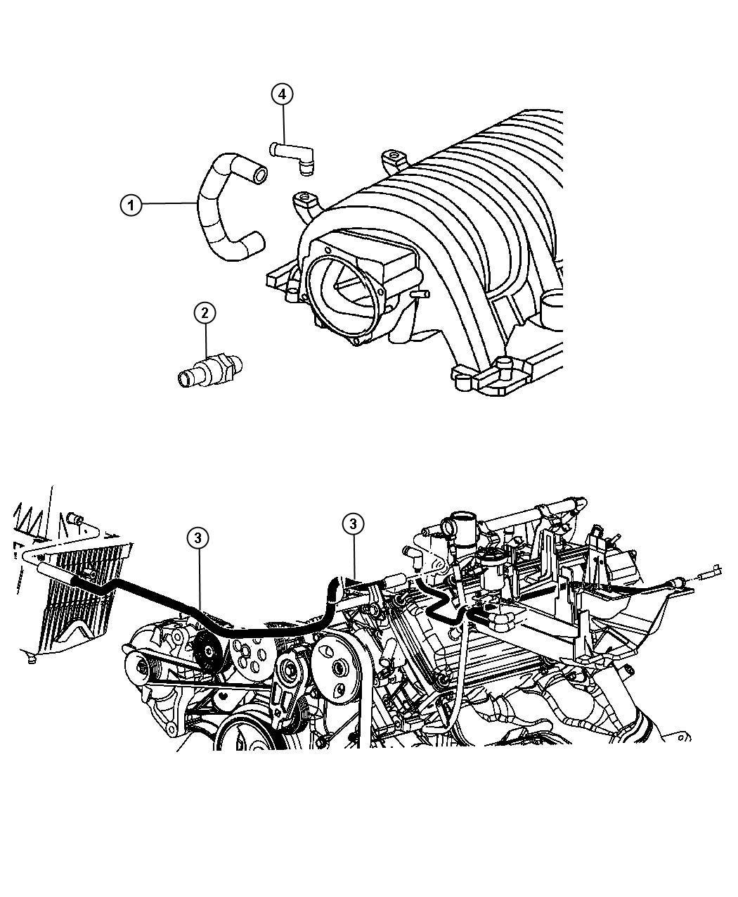 Jeep Grand Cherokee Valve  Pcv  Esf  Manifold  Intake