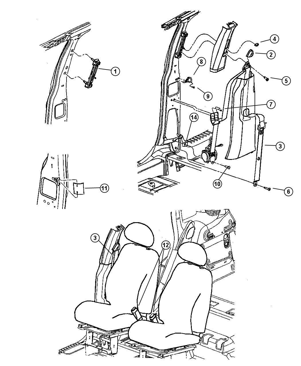 2007 Chrysler PT Cruiser Seat Belt. Left. Front Outer. [da