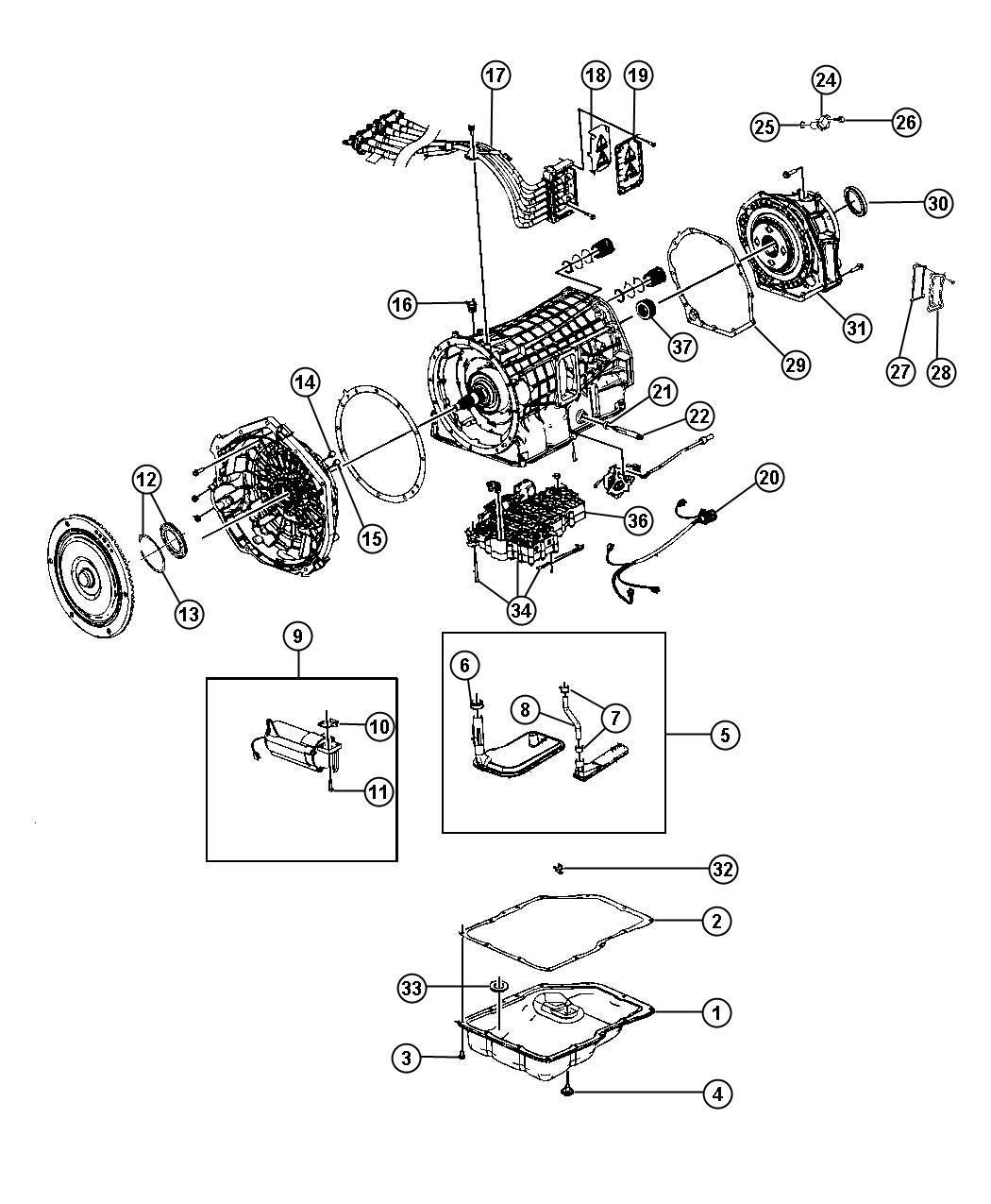 chrysler aspen seal  auxiliary filter  transmission