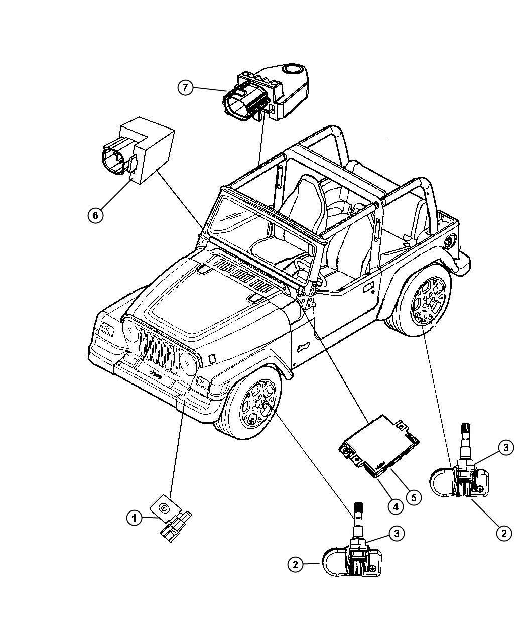 Jeep Wrangler Sensor  Intrusion Module   Premium Security Alarm   Console  Premium