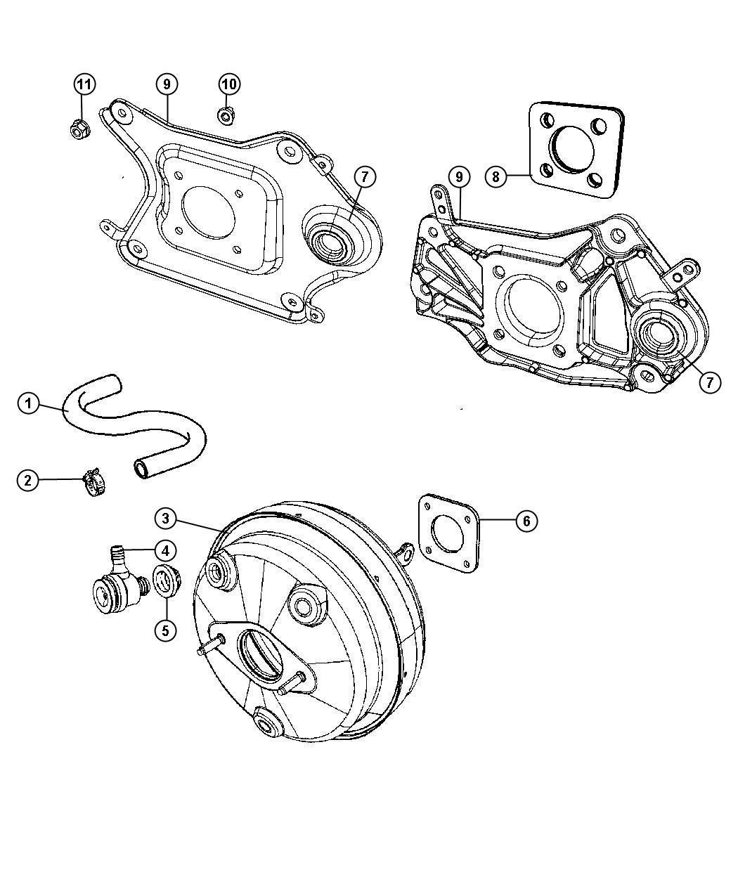 Jeep Liberty Hose  Brake Booster Vacuum   All Turbo Diesel