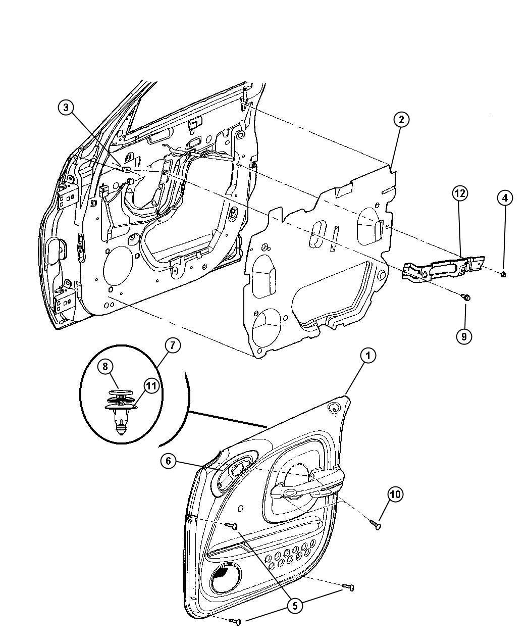 2013 Dodge Ram 1500 Bracket  Armrest To Door  Left  Body