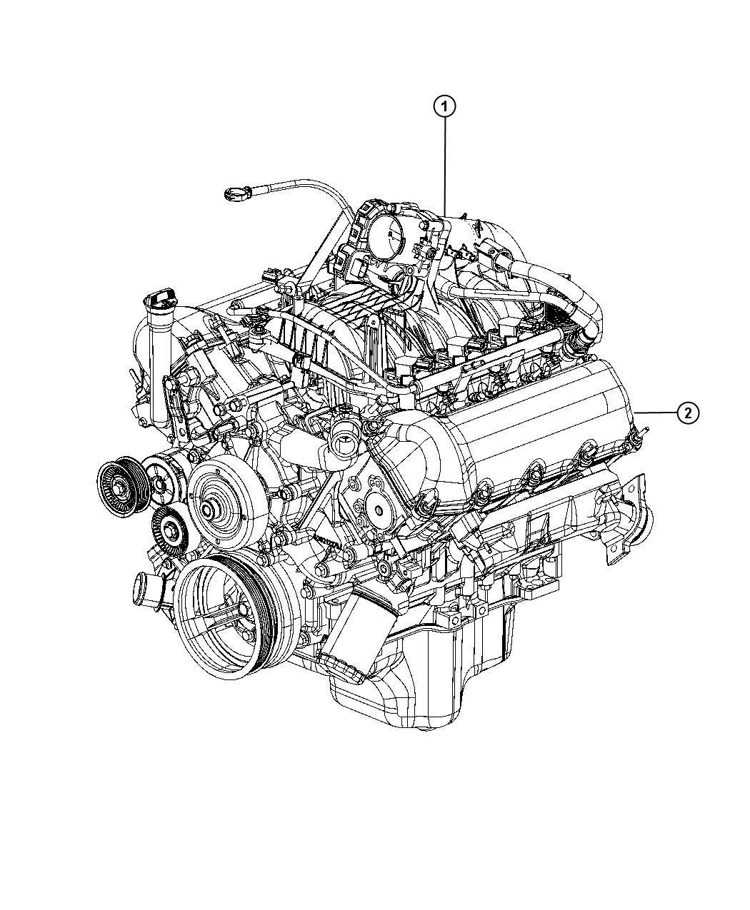 Dodge Dakota Engine  Long Block  Remanufactured  Service  Identification  Assembly