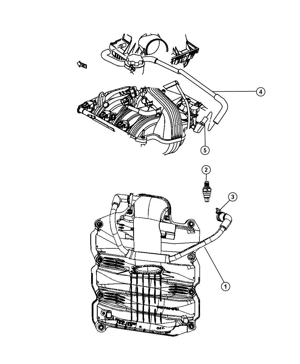 jeep commander hose  make up air  ventilation  crankcase  eva