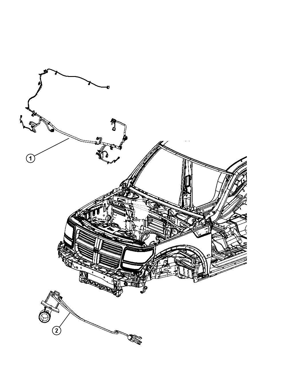 2008 Dodge Nitro Wiring  Front End Lighting  Export