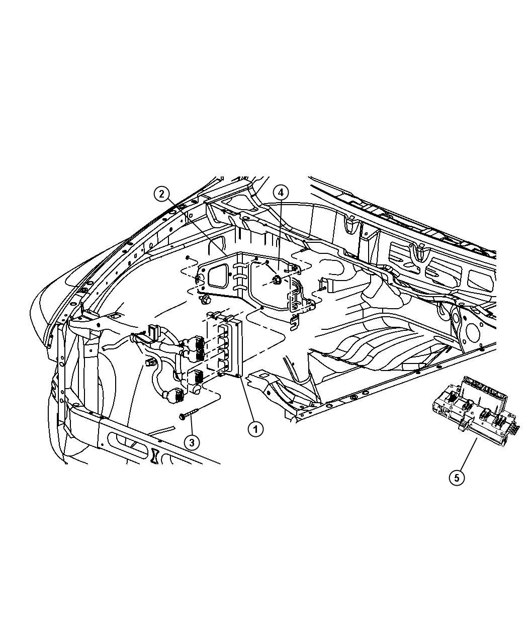 2011 dodge ram 1500 bracket  powertrain control module