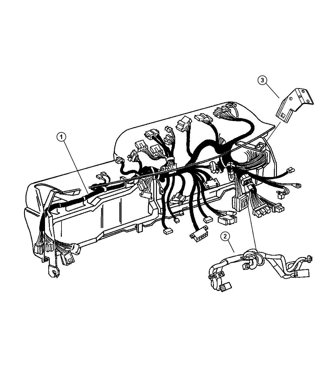 2009 Dodge Ram 1500 Wiring  Instrument Panel    Air Conditioning  Vehicle Information Center