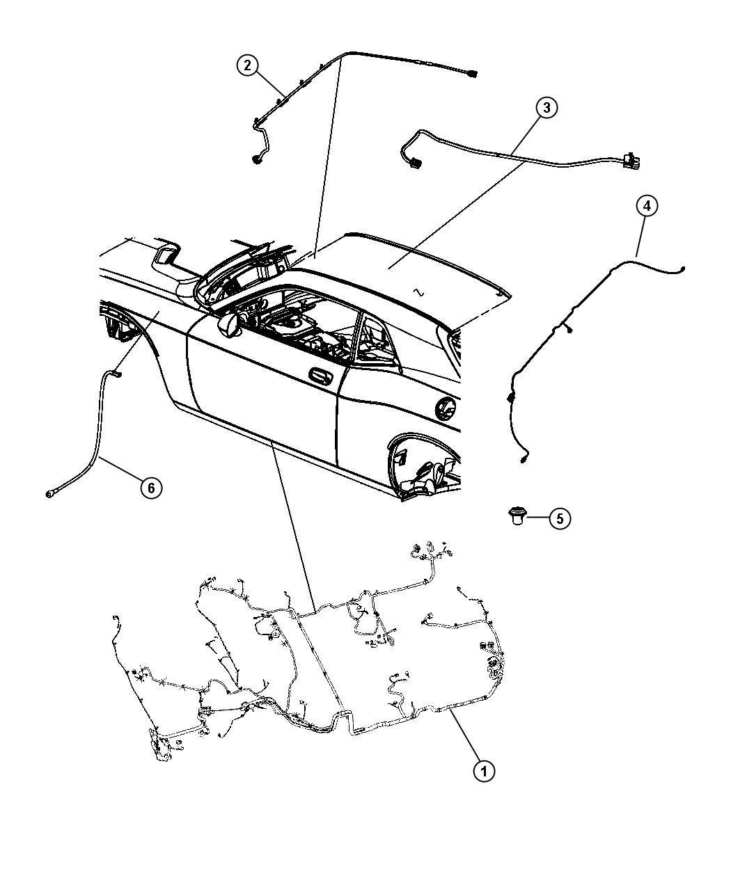 2009 Dodge Challenger Wiring  Rear Fascia   Dual Rear