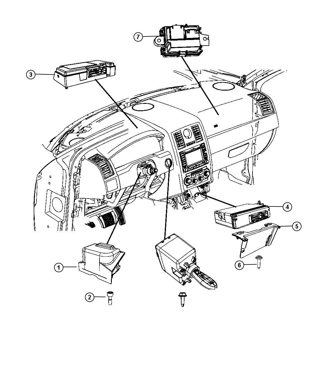 2008 Chrysler 300 Module. Steering Control. [sau], [sua
