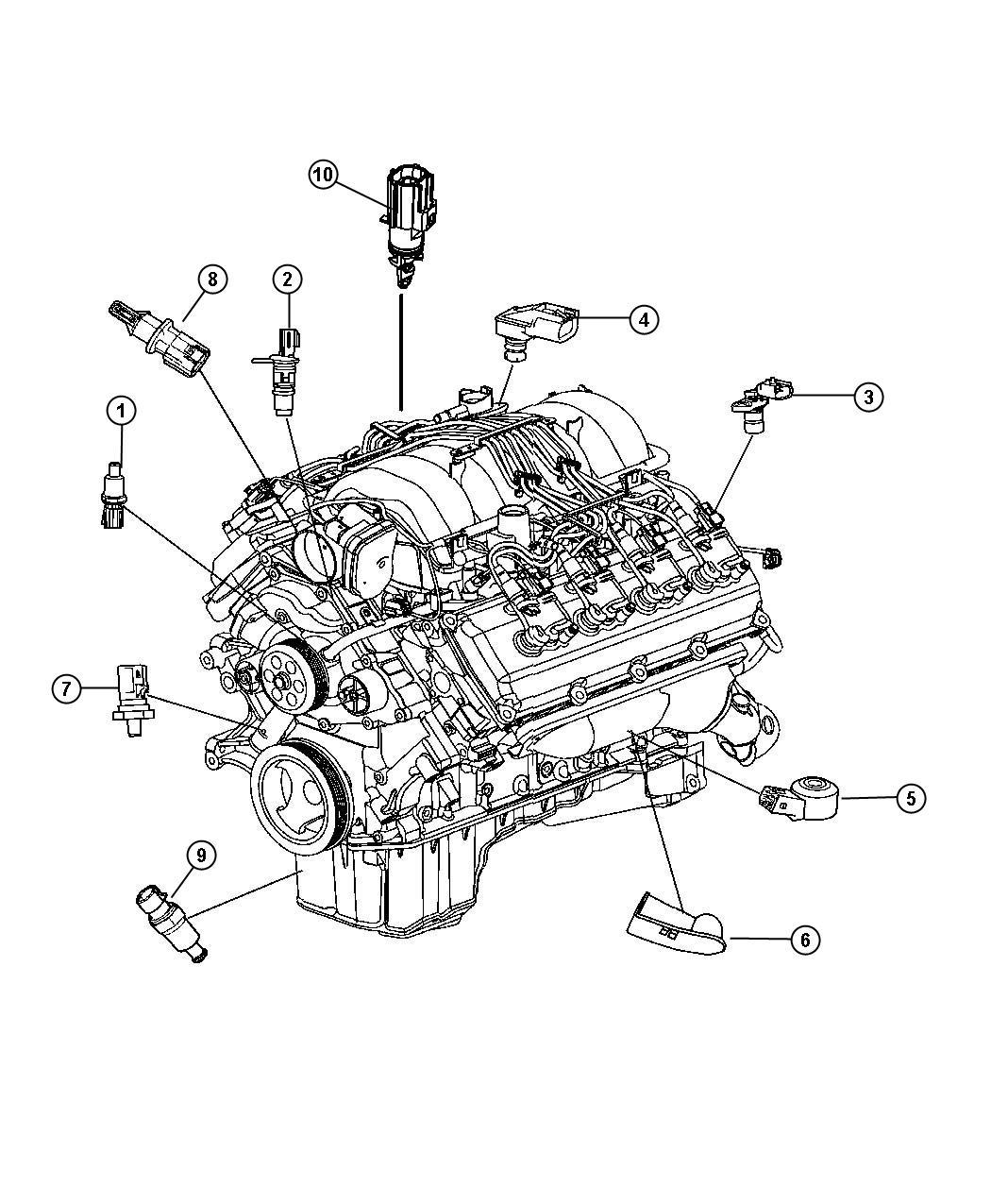 Dodge Charger Sensor  Crankshaft Position  After 04  21  08