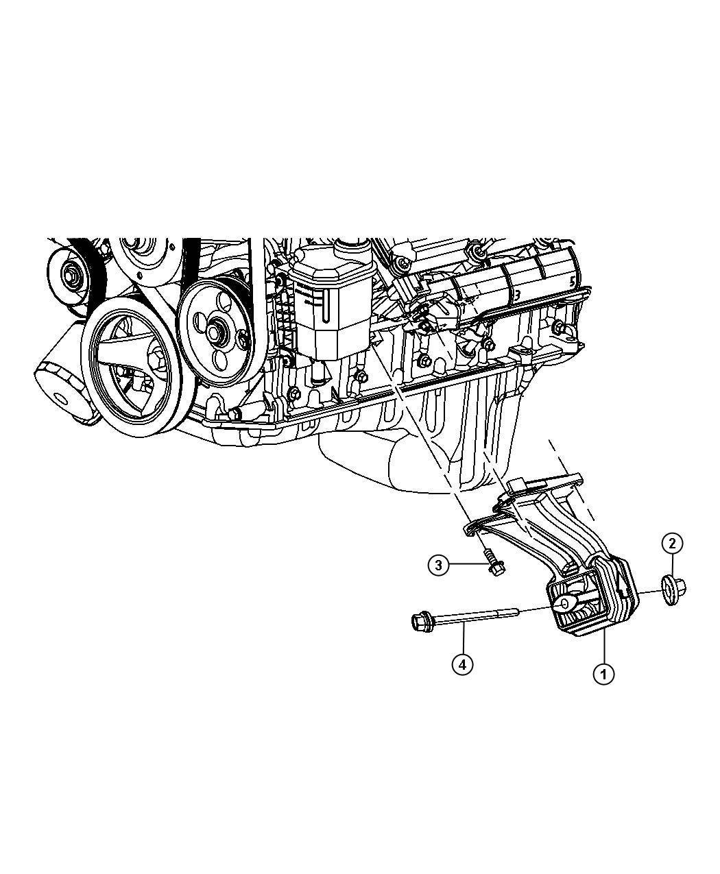 2011 dodge ram 1500 insulator  engine mount  left  left
