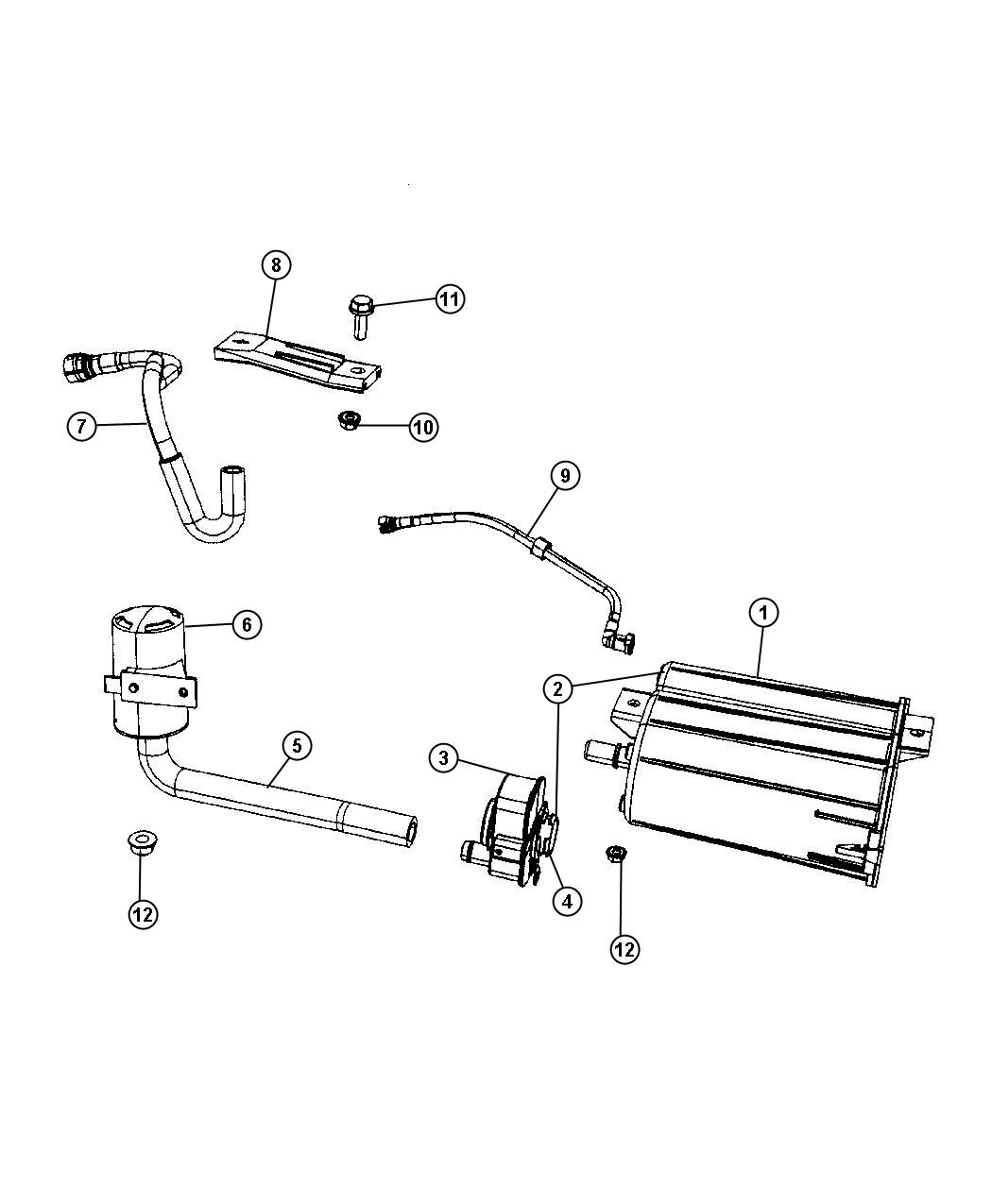 2009 dodge caliber fuel line diagram