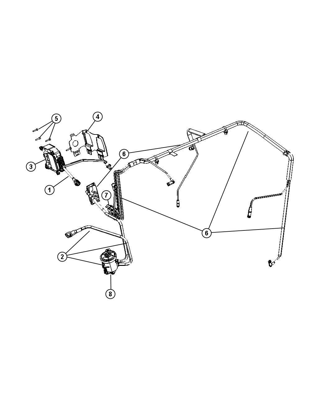 Jeep Patriot Bracket  Vacuum Valve  Emission  Module  Harness