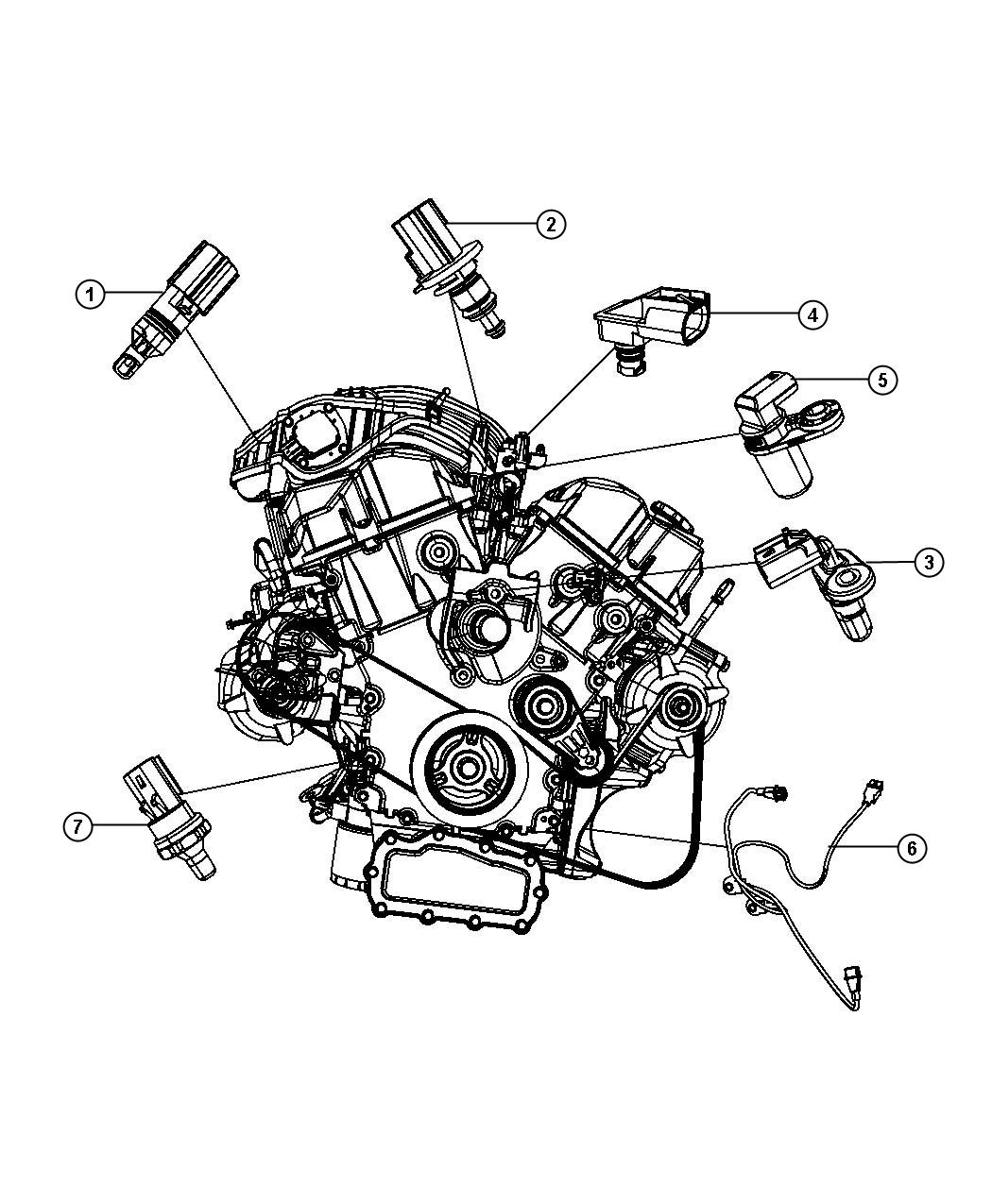 2009 Chrysler Sebring Sensor  Crankshaft Position  Engine