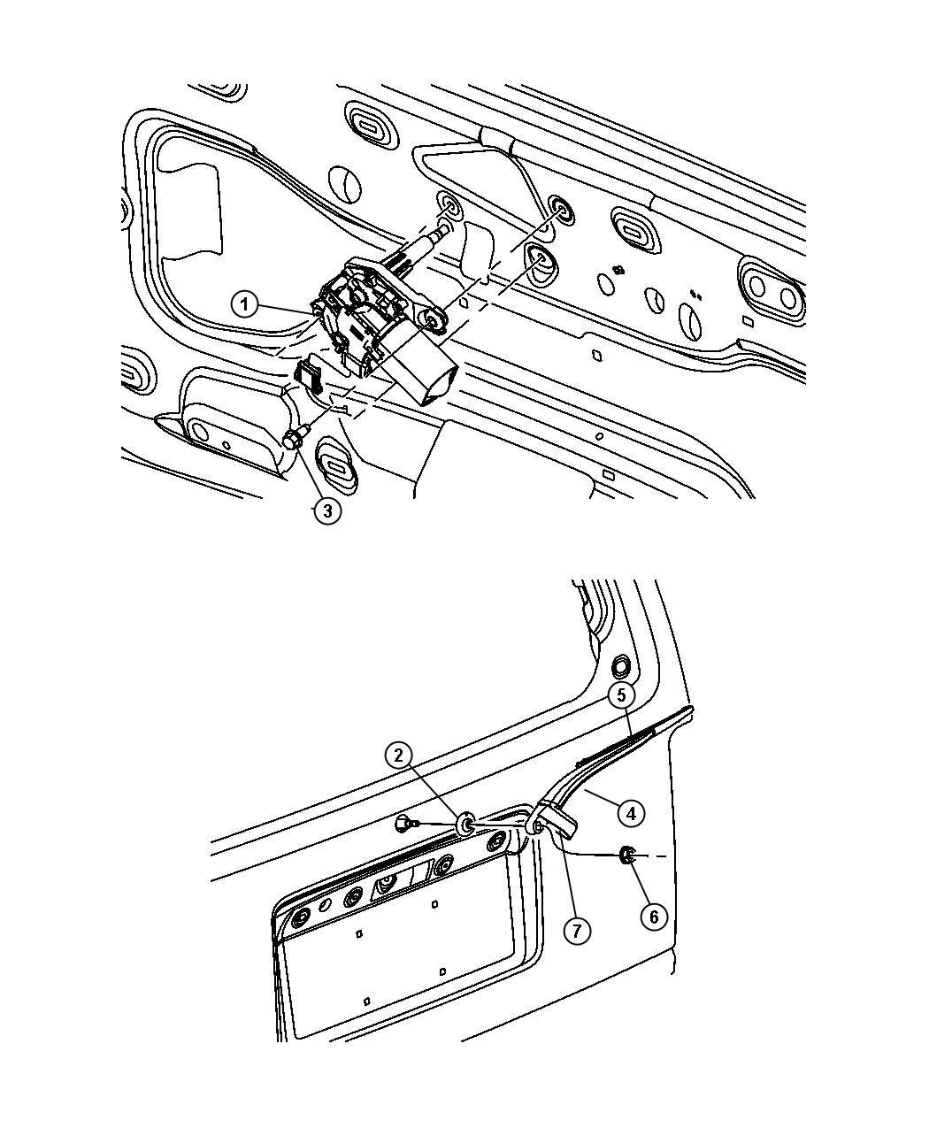 2008 Dodge Nitro Arm  Liftgate Wiper  Rear Wiper  Wiper