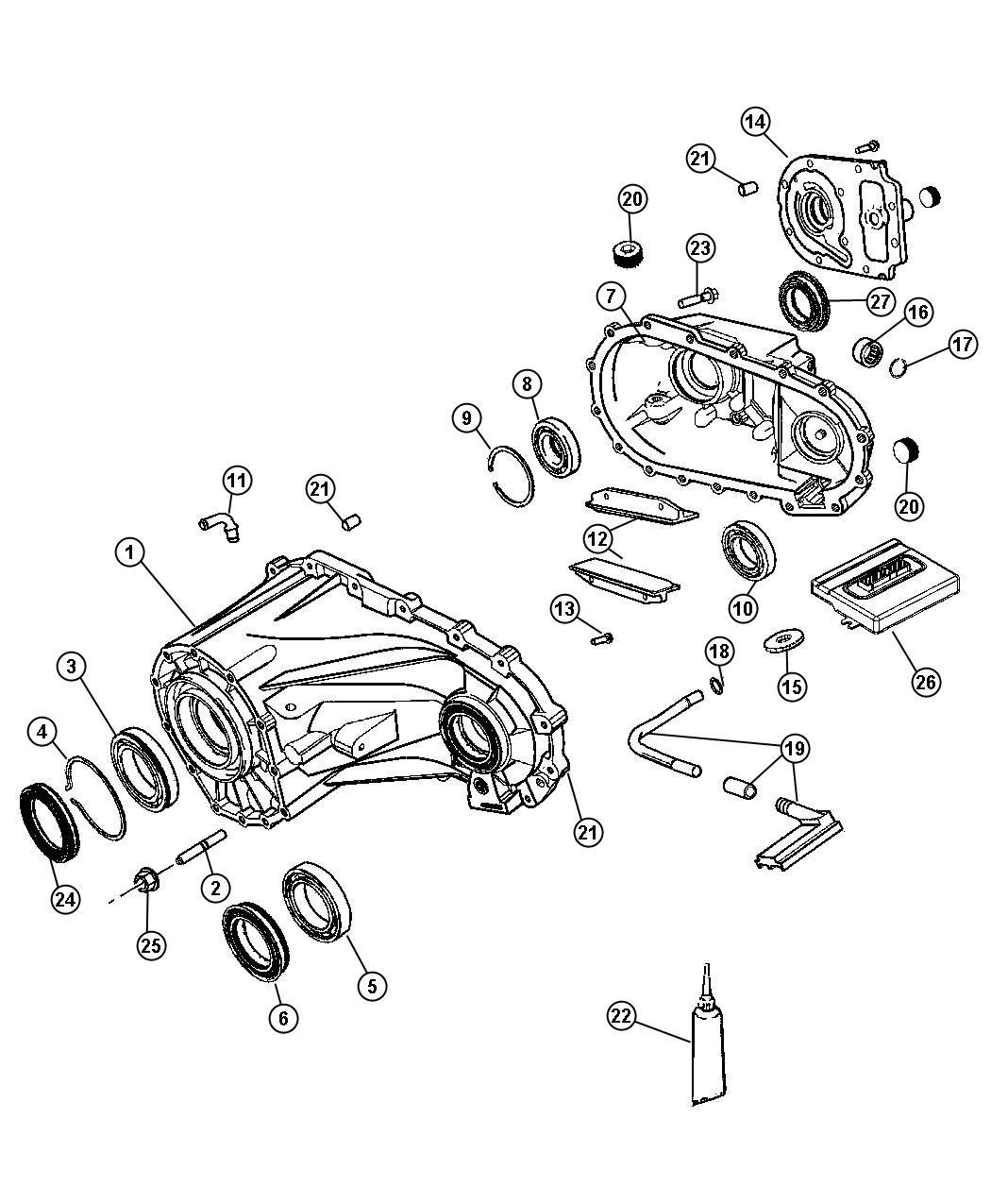 2009 Jeep Liberty Module  Transfer Case Control  Trac