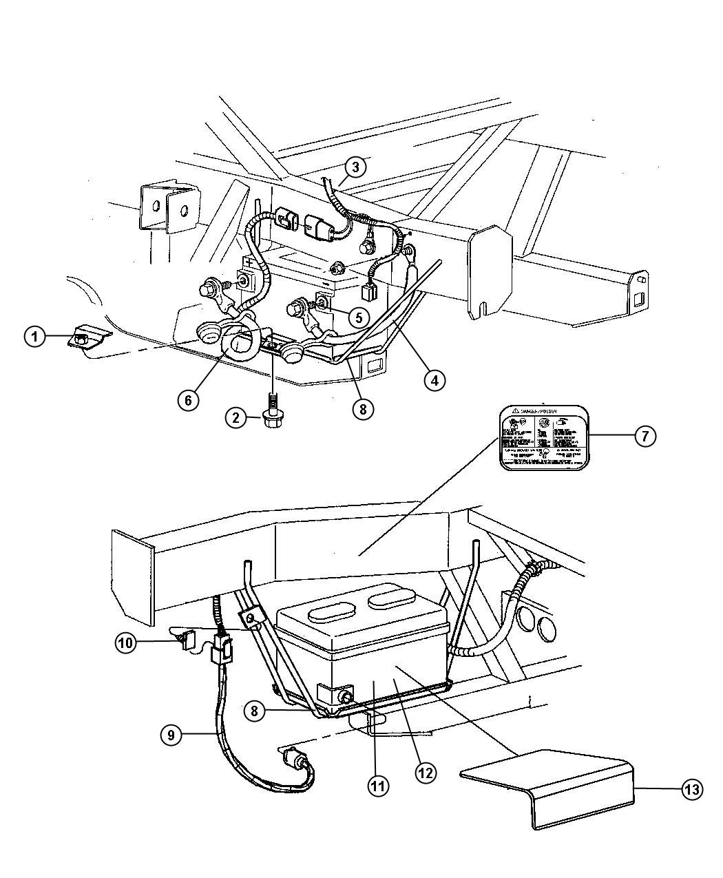 2013 jeep patriot terminal  battery  negative  negative battery cable