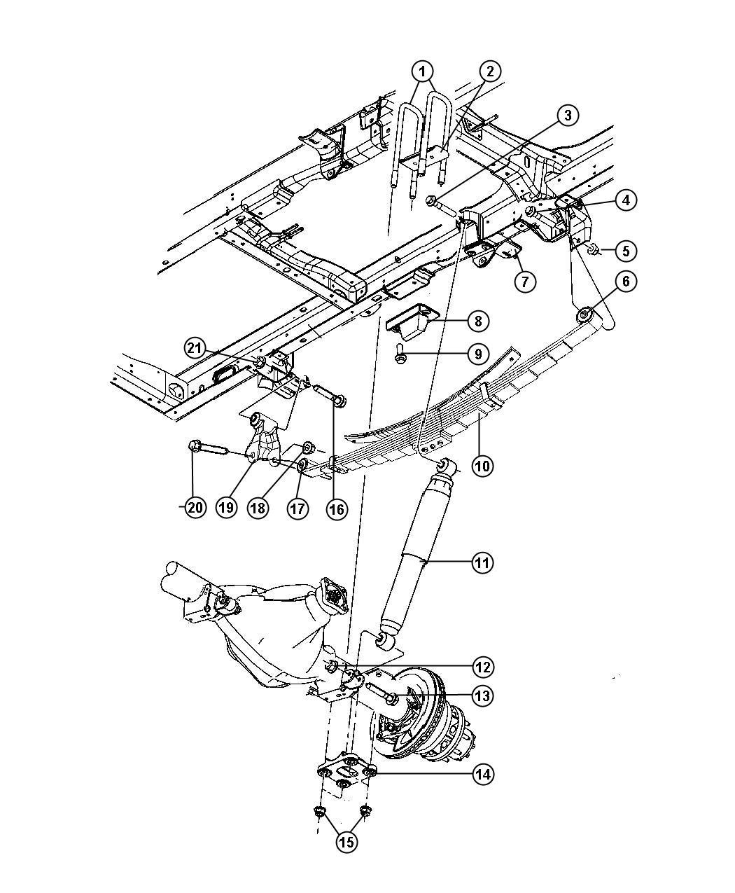 2013 Dodge Ram 3500 Plate  Clip Mounting  Rear Spring U