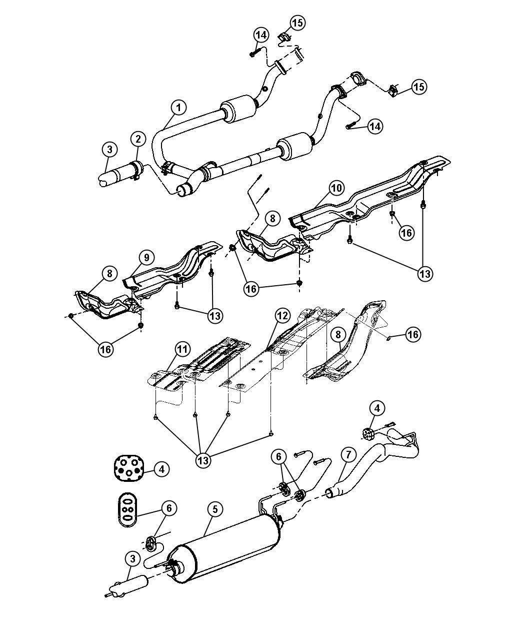 2009 Dodge Ram 1500 Shield Exhaust Heat Front Pipe Or Wiring Diagram