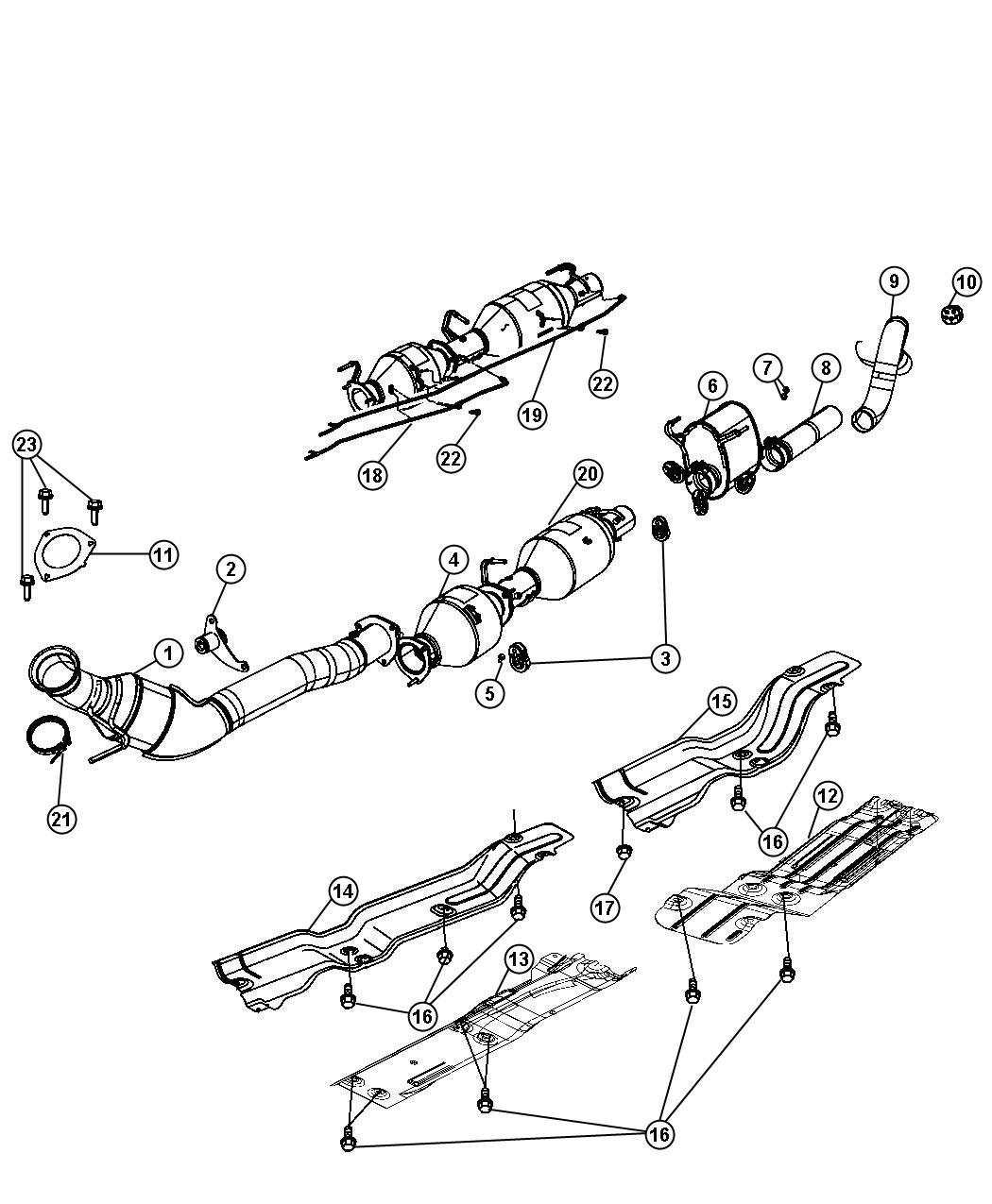 2011 jeep compass pipe  exhaust extension  system  eth  diesel