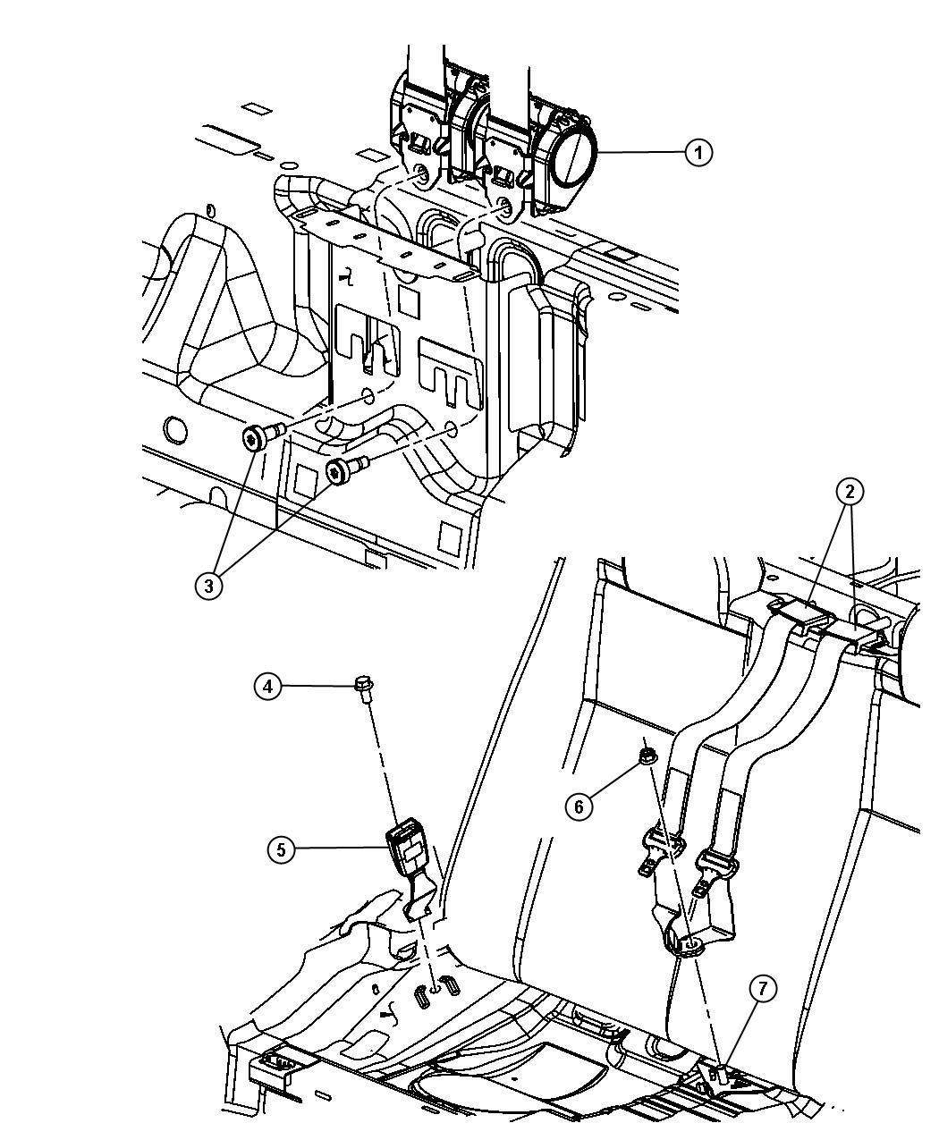 Chrysler Sebring Seat Belt  Retractor   J1  E