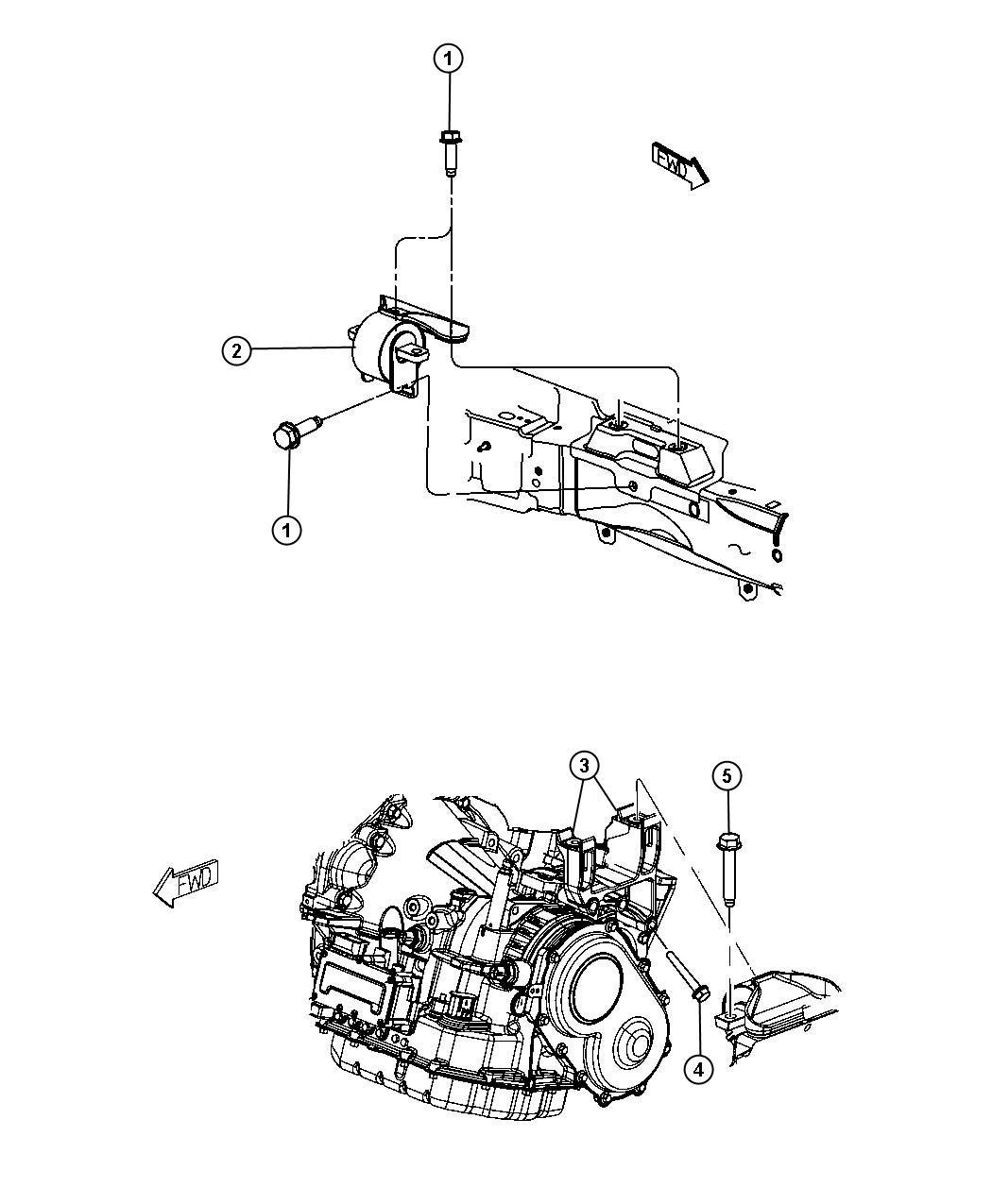 Dodge Avenger Isolator  Transmission Mount  Left  Left