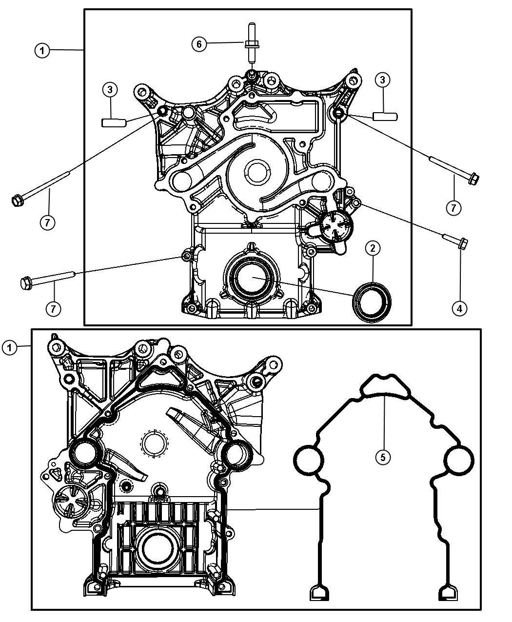 2009 Dodge Ram 3500 Cover. Timing case. Engine, mds, hemi ...