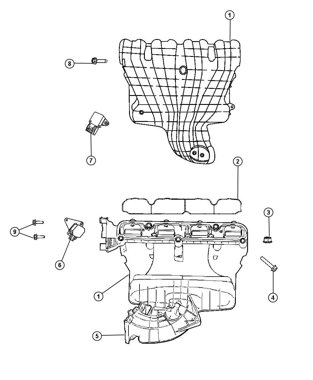 Jeep Patriot Manifold. Intake. Pzev, vvt, engine ...