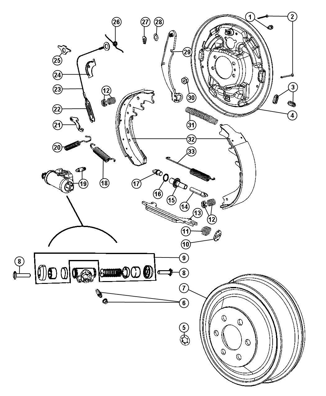 2001 dodge ram 1500 plate  left  brake backing  axle  rear