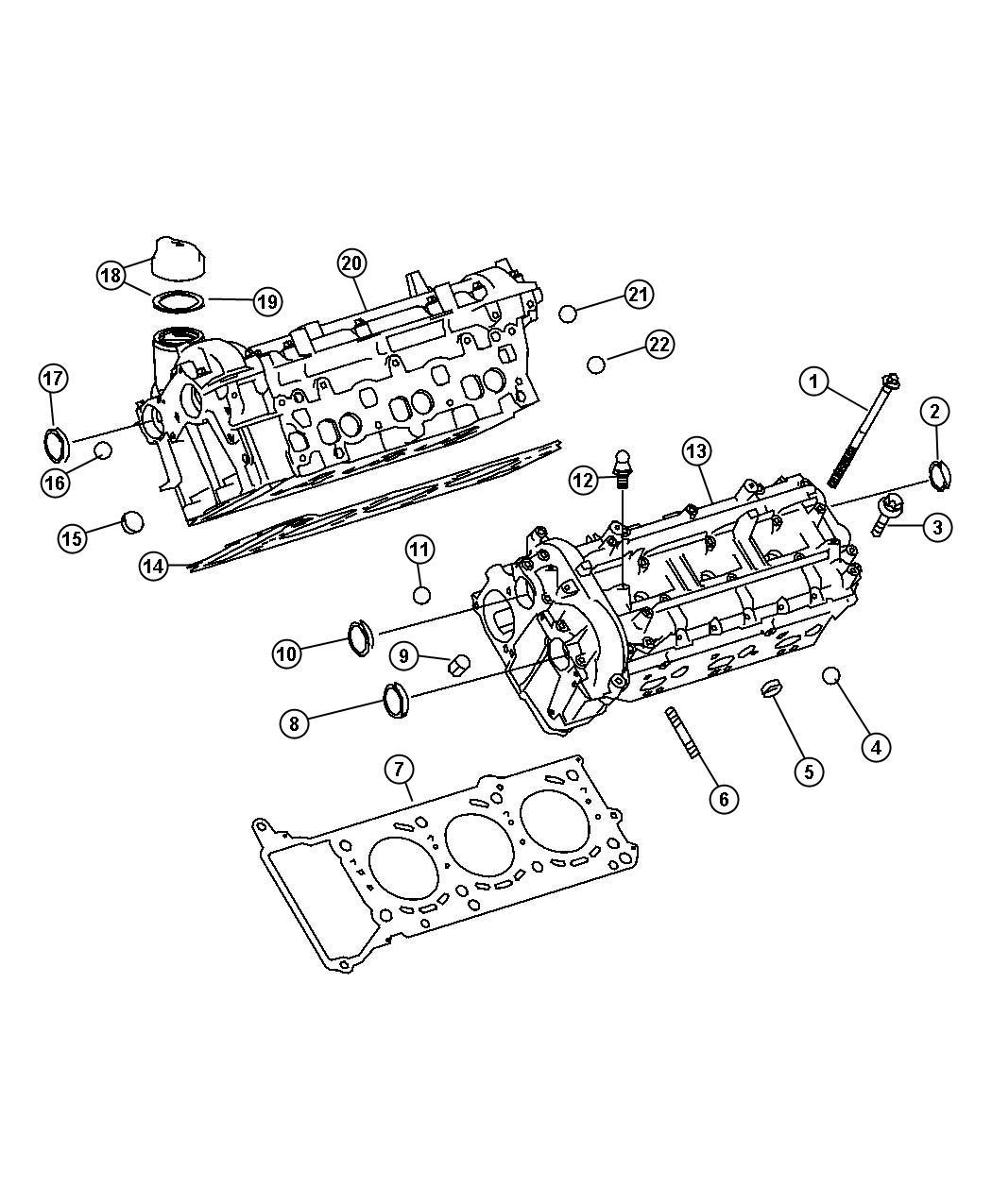 2008 Dodge SPRINTER 3500 Gasket. Cylinder Head. Diesel