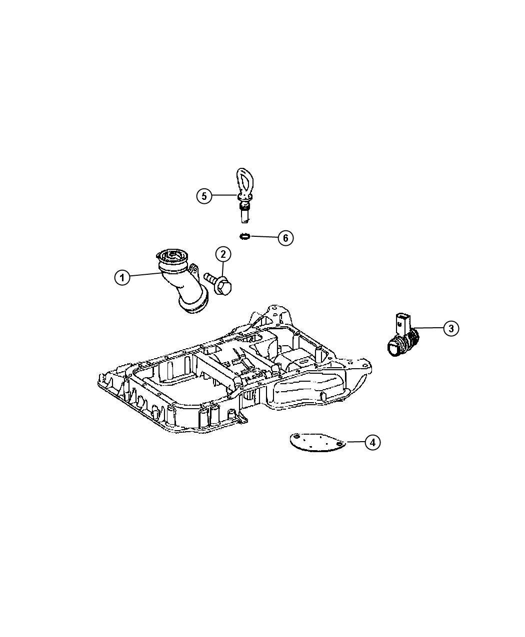 Dodge Sprinter Housing  Oil Fill  Engine  Indicator  Pan