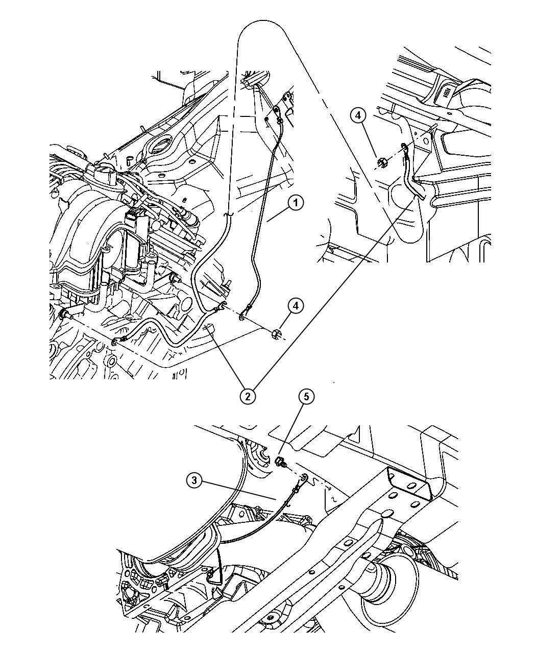 2010 Jeep Grand Cherokee Strap  Ground  Engine To Plenum