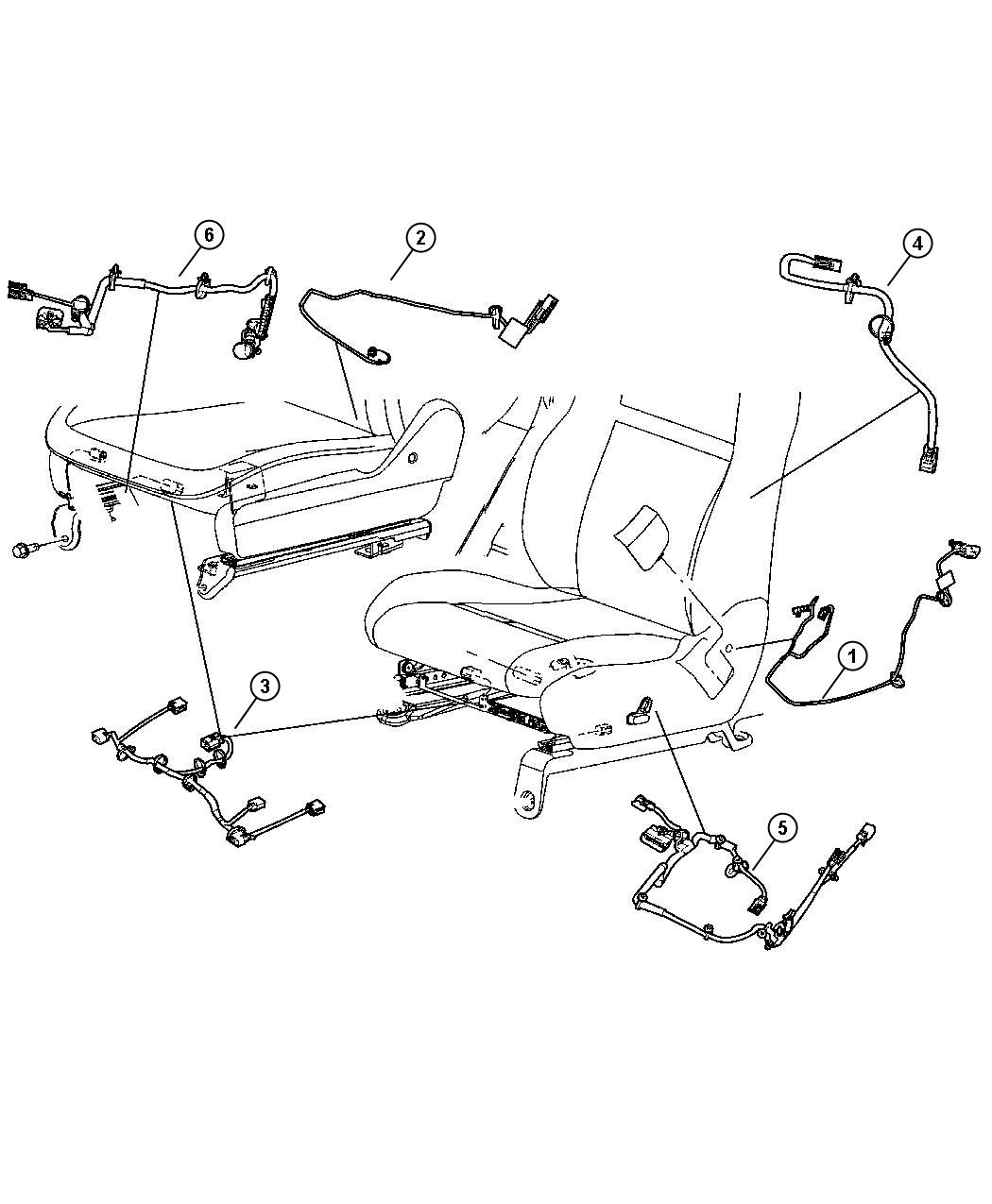 jeep grand cherokee wiring  seat  right  manual  power
