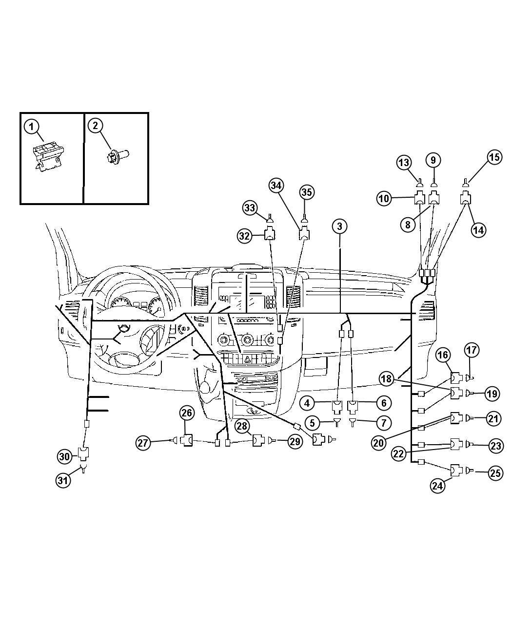 2008 Dodge Sprinter 3500 Connector  Wiring  Pin  Body