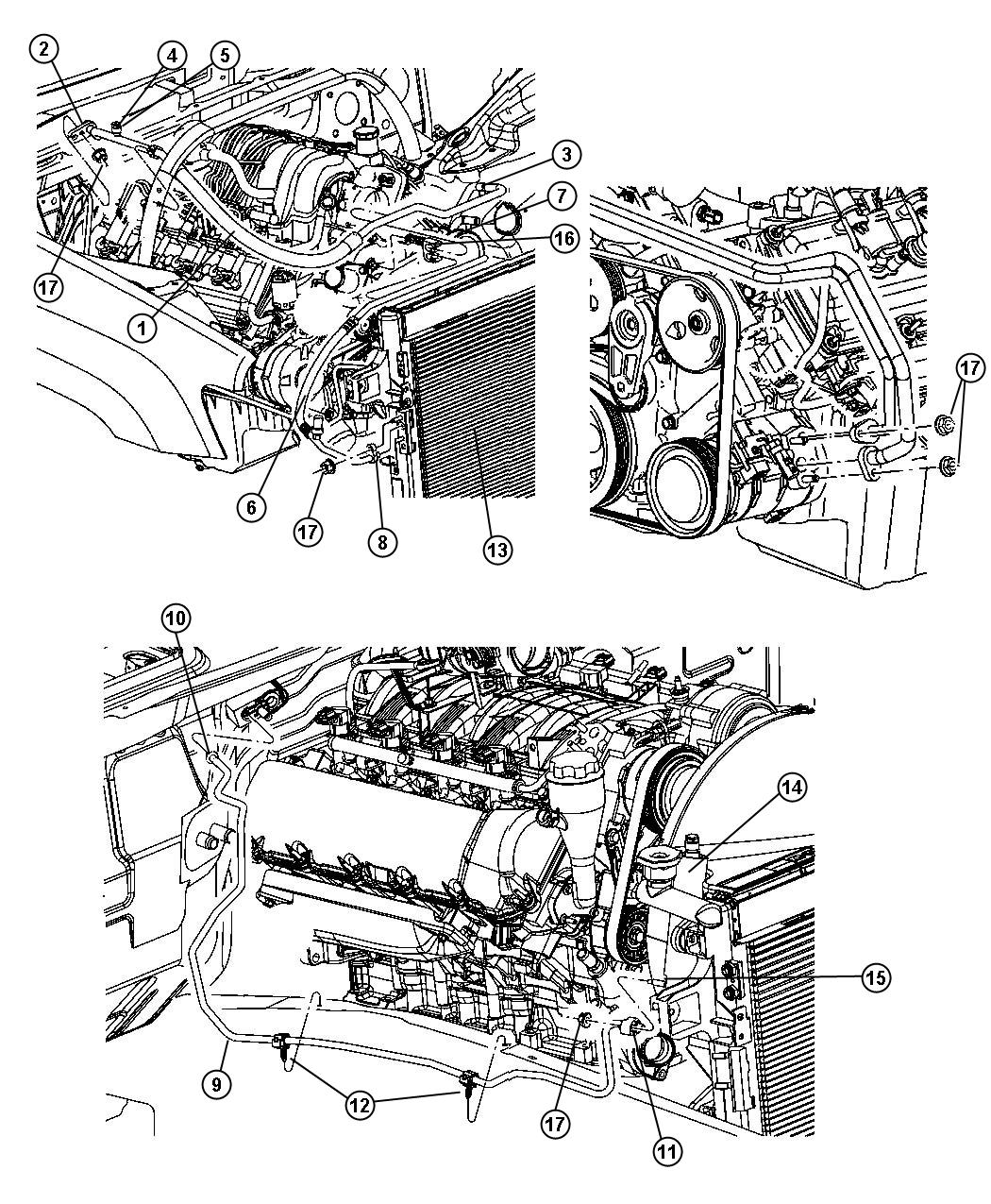 2010 Jeep Grand Cherokee Line  A  C Discharge  Engine  Hemi