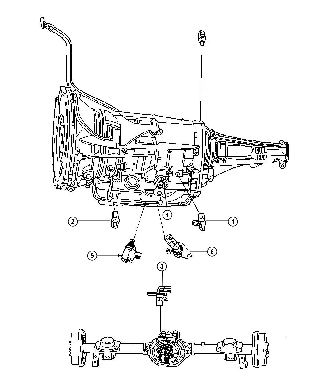 2010 Dodge Nitro Sensor  Solenoid  Trans Variable Force Solenoid  Transmission Variable