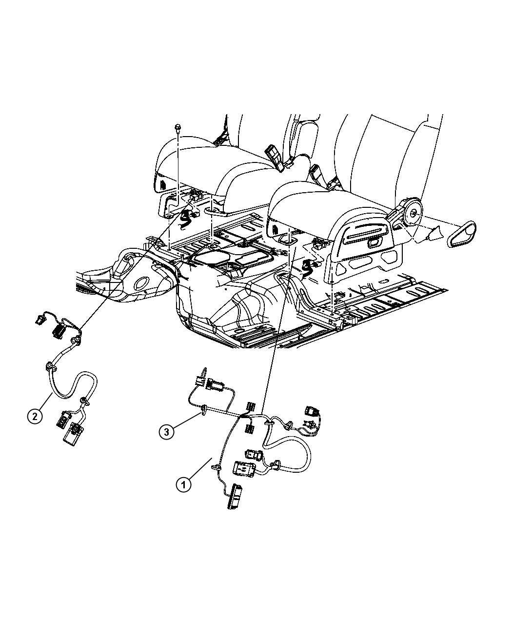 2010 dodge nitro wiring  seat  6 way power  fold flat seat