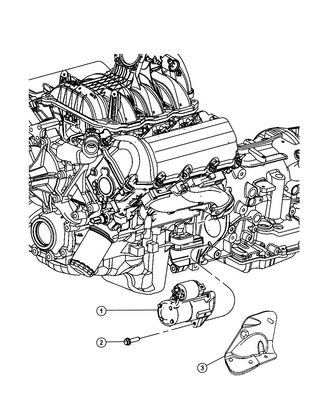 2009 Jeep Liberty Starter  Engine  Remanufactured  After