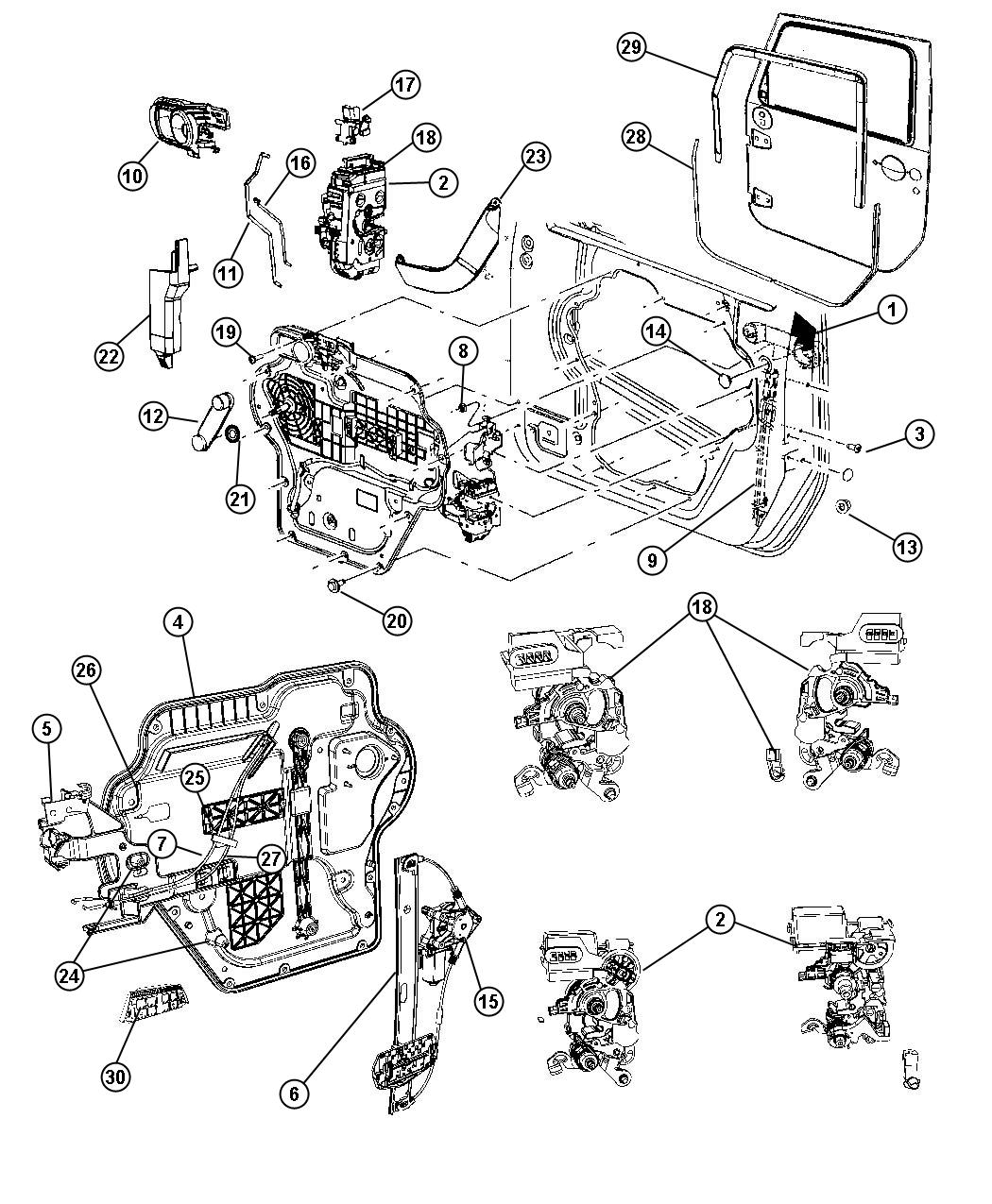 2008 jeep wrangler cable right inside lock to latch. Black Bedroom Furniture Sets. Home Design Ideas