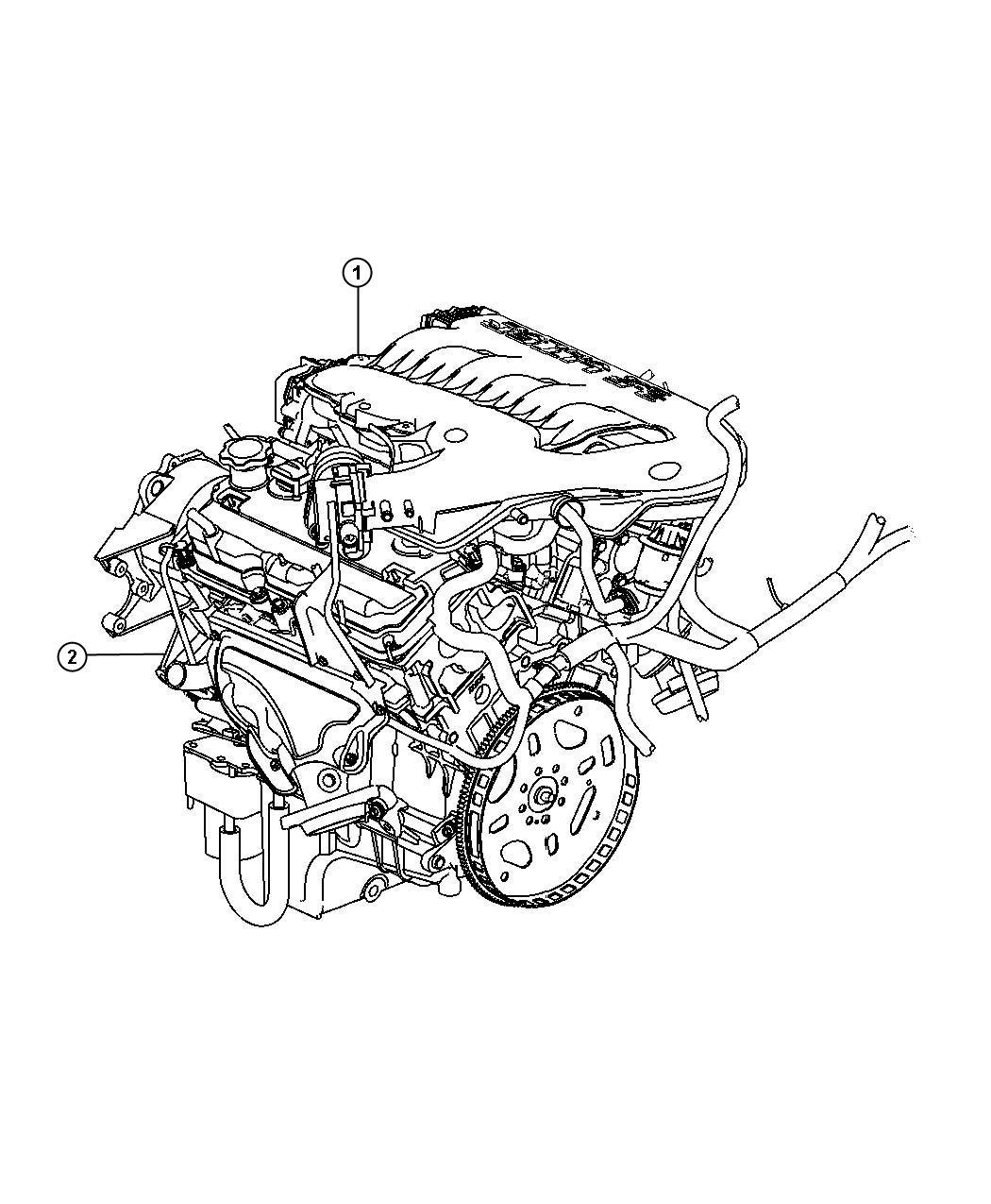Chrysler 300 Engine  Long Block  Export