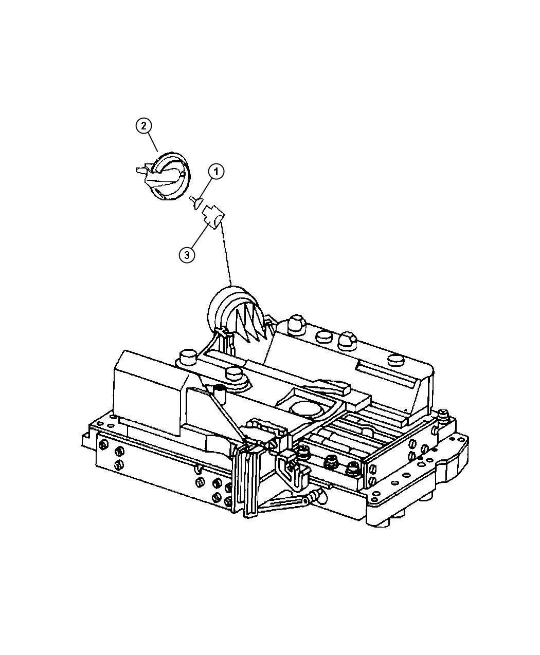 Dodge Nitro Connector  Case  Transmission  Valve