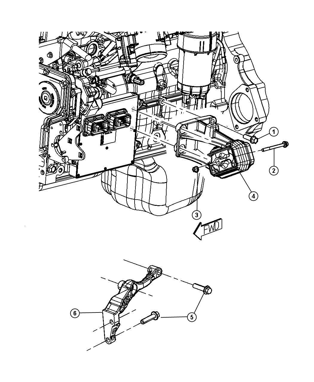 2008 Dodge Ram 3500 Bracket  Engine Mount  Left  Left Side
