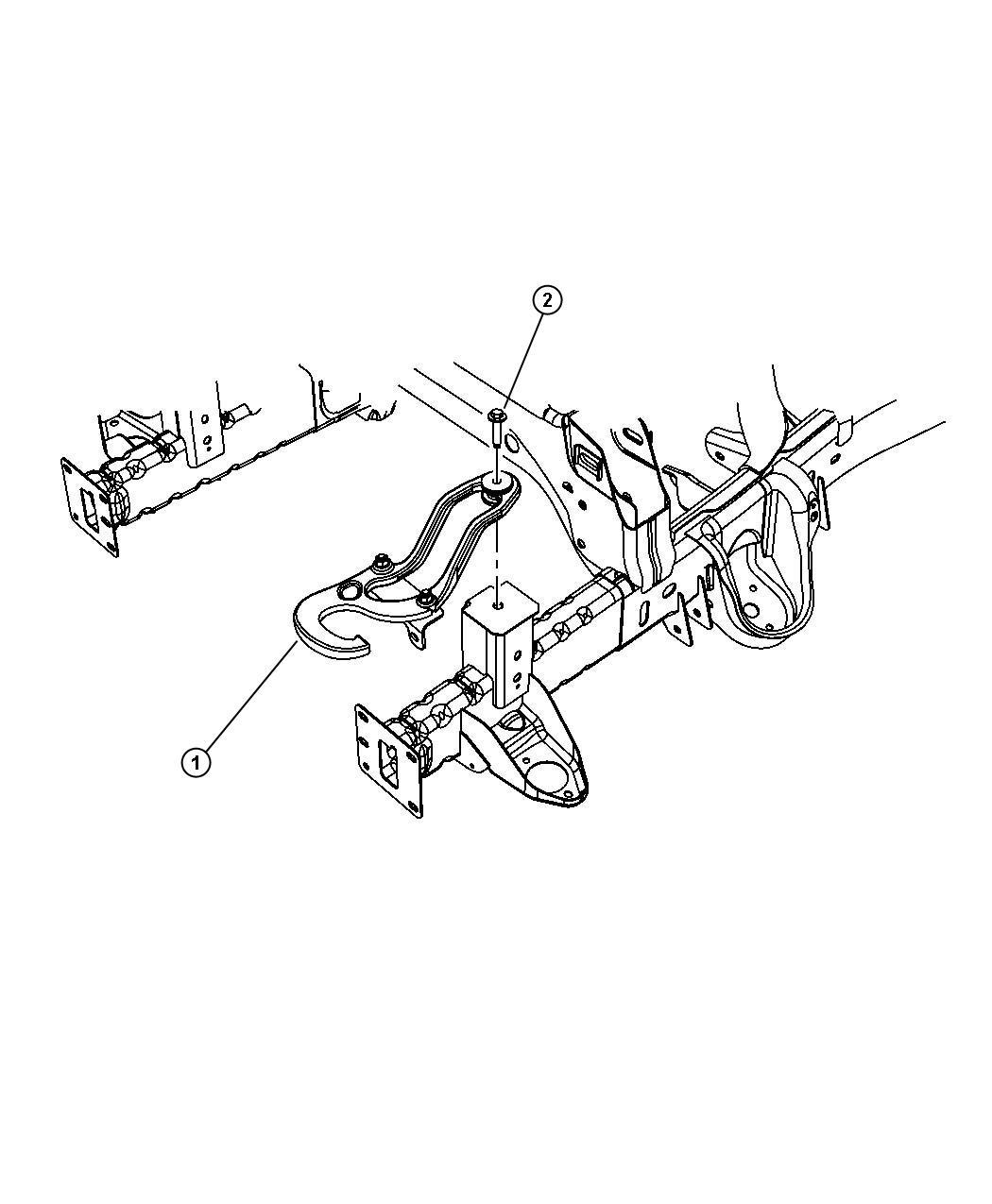 2012 Dodge Ram 1500 Hook  Tow  Left   Tow Hooks    Add Tow